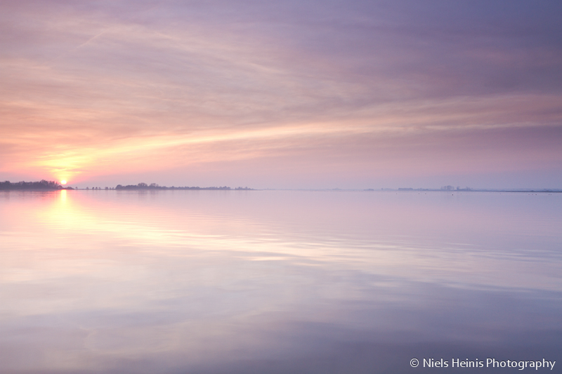 Tranquil sunset at Schildmeer