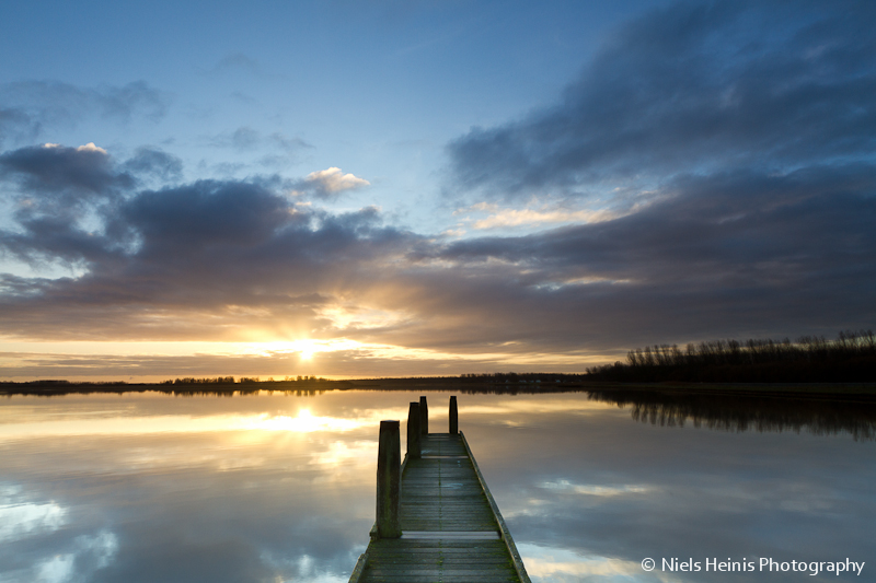 Sunrise at Lauwersmeer