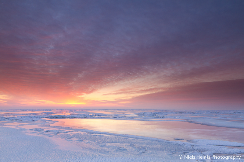 Endless ice - IJsselmeer, The Netherlands