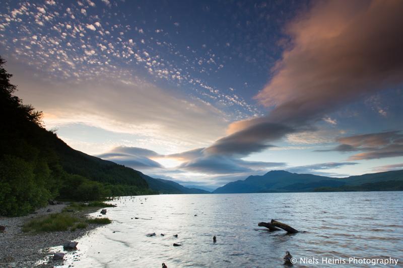 Sunset over Loch Lomond - Luss, Scotland