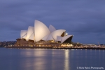 Sydney Opera House just after sunset