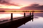 Tranquil sunrise at Lauwersmeer