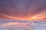 Sunset reflections on ice