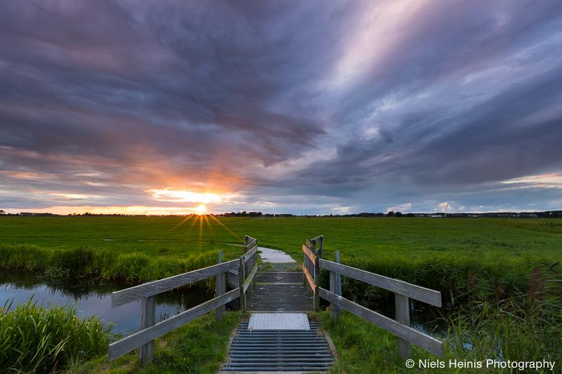 Sunset at Harssensbosch II, Groningen, NL