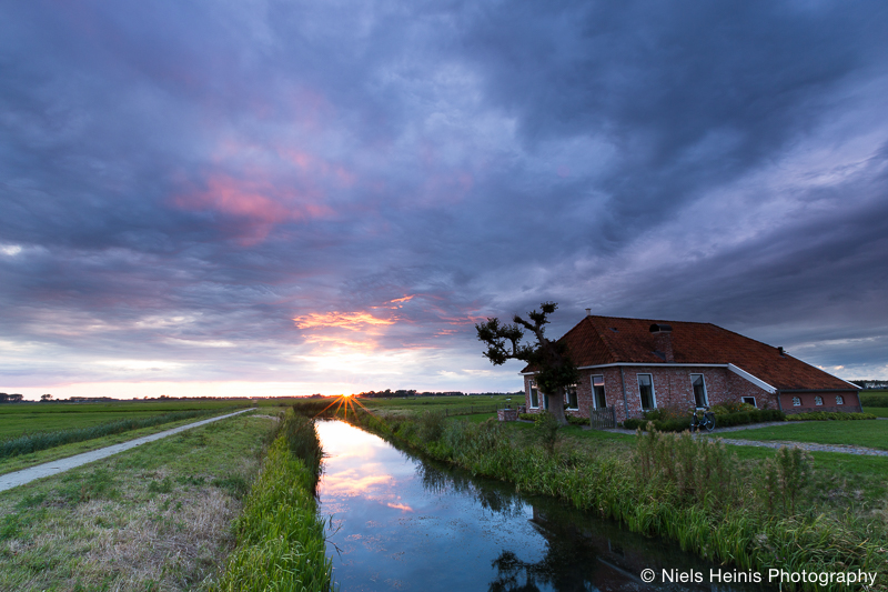 Sunset at Harssensbosch, Groningen, NL