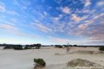 Sunrise over Dutch desert
