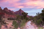 Sunset over the Virgin River - Zion National Park